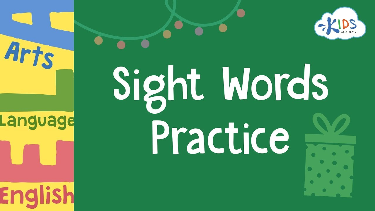 medium resolution of Sight Words Practice - 3rd Grade Worksheets   Kids Academy - YouTube