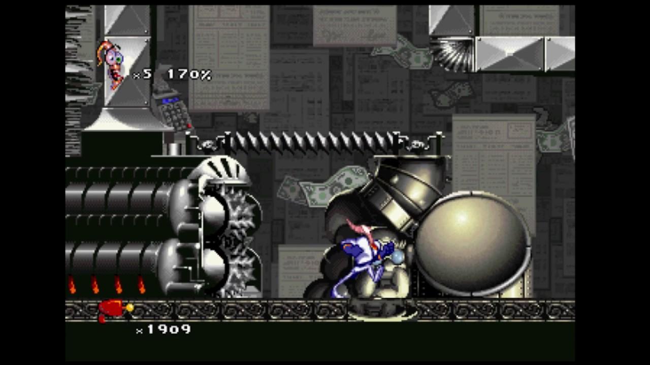Earthworm Jim 2 [Sega Saturn] #10 - Level 7 : Iso 9000
