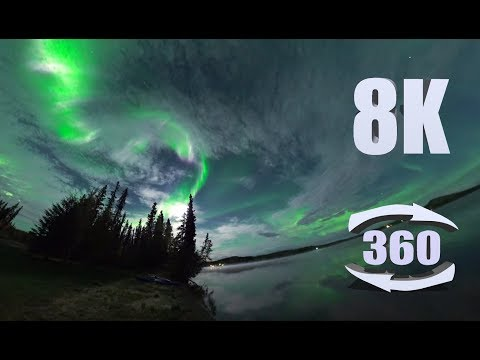 Experience the Magic of The Northern Lights in 6K 360 REAL-TIME Video