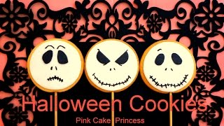 Halloween Cookies / Cupcakes Treats - How to Decorate Jack Skellington Treats by Pink Cake Princess