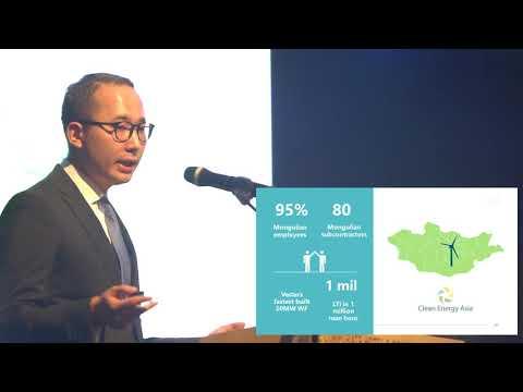 """""""Renewable energy Development in Mongolia"""" speaker Orchlon Enkhtsetseg"""