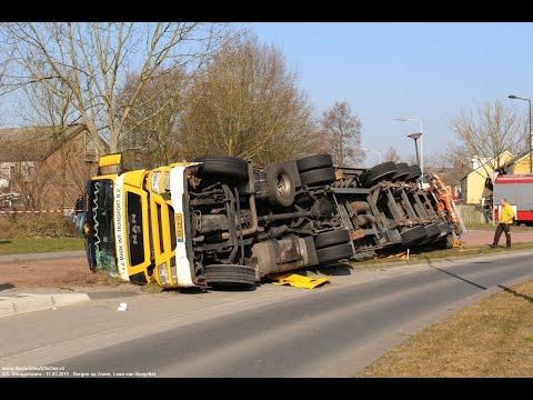 Vrachtwagen gekanteld in Bergen op Zoom 17-03-2015 Deel 2