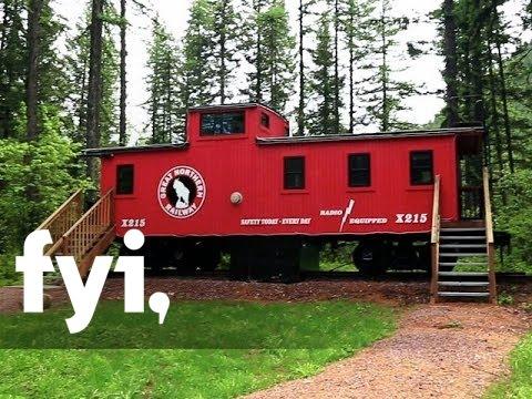 Tiny House Nation: Train Car Guest Suites | FYI