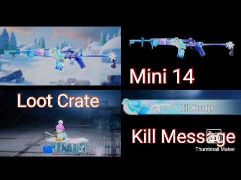 Mini 14 Glacier Level (1To7) Upcoming Full Leaks! (Kill Message) (Loot Crate)