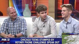 Our Rotary Phone Interview on Fox 32 Chicago.