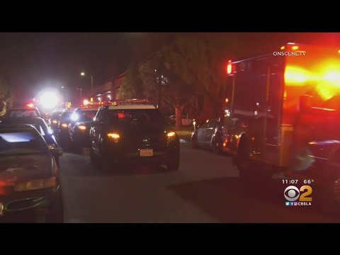 As Many As 4 Suspects Sought In Van Nuys Double Shooting