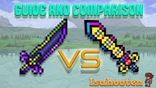True Night's Edge vs True Excalibur // Guide and Comparison // Terraria 1.3 thumbnail