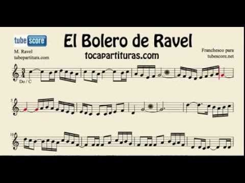 Ravel´s Bolero Sheet Music for flute, violin and oboe