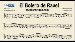 Ravel´s Bolero Sheet Music for flute, violin and oboe