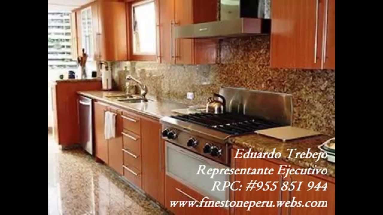 Fine stone cocinas de granito cuarzo m rmol finos acabados - Cocinas de marmol ...