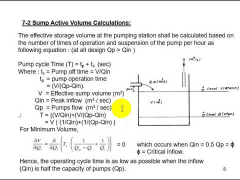 Wastewater Pumping Station Design Lecture 07 Well Types Shapes and Sizing