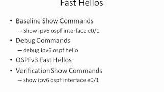 OSPFv3 Video Cheat Sheet: Fast Hellos