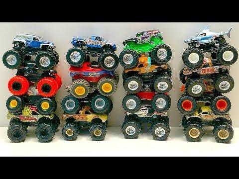 MONSTER JAM | MONSTER TRUCKS | GRAVE DIGGER | HOT WHEELS TRUCKS | 괴물 잼 몬스터 트럭 그레이브 빅 & 리틀 핫 휠 트럭