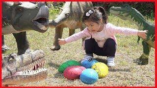 공룡알을 찾아라 !! 서은이의 산속 공룡알 보물 찾기 전동 미니버스 Dinosaur Eggs Hunt Power Wheel