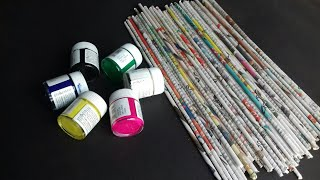 4 Simple And Easy Newspaper Wall Decor Ideas | Newspaper Wall Hanging Ideas