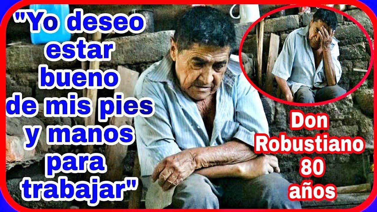 Esta es la realidad de don Robustiano 😔 un anciano de 80 años