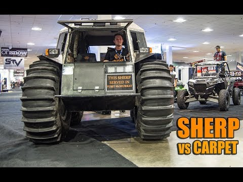 SHERP VS CARPET... 2017 ШЕРП Amphibious Vehicle - 2017 Toronto Snowmobile ATV & Powersports Show
