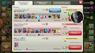 Clash of clans defendendo a vila e ganhando 34 troféus