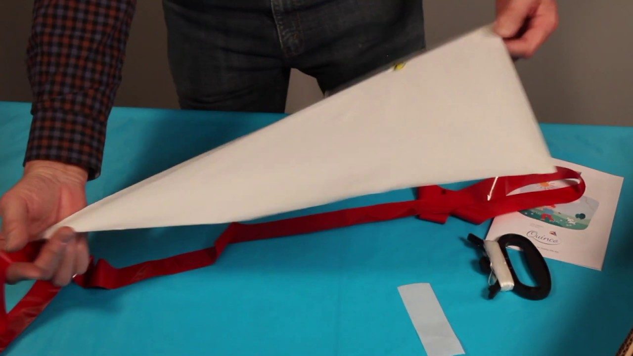 QUINCO kite-making instruction video (Diamond)