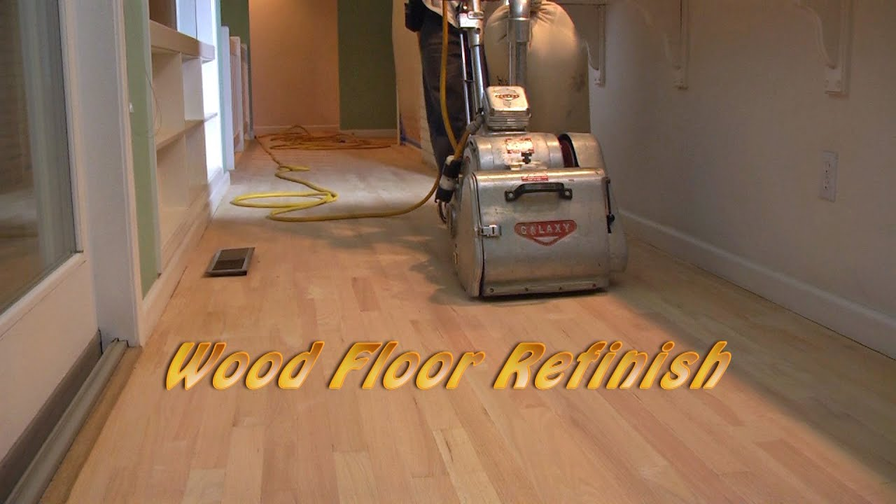 Hardwood Floor Refinish. Шлифовка Паркета США Part 1   Sanding   YouTube