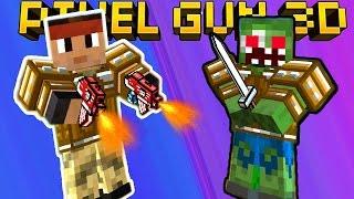 КВАДРАТНЫЙ Counter Strike видео для детей про сражение Майнкрафт героев в онлайн игре Pixel Gun 3D