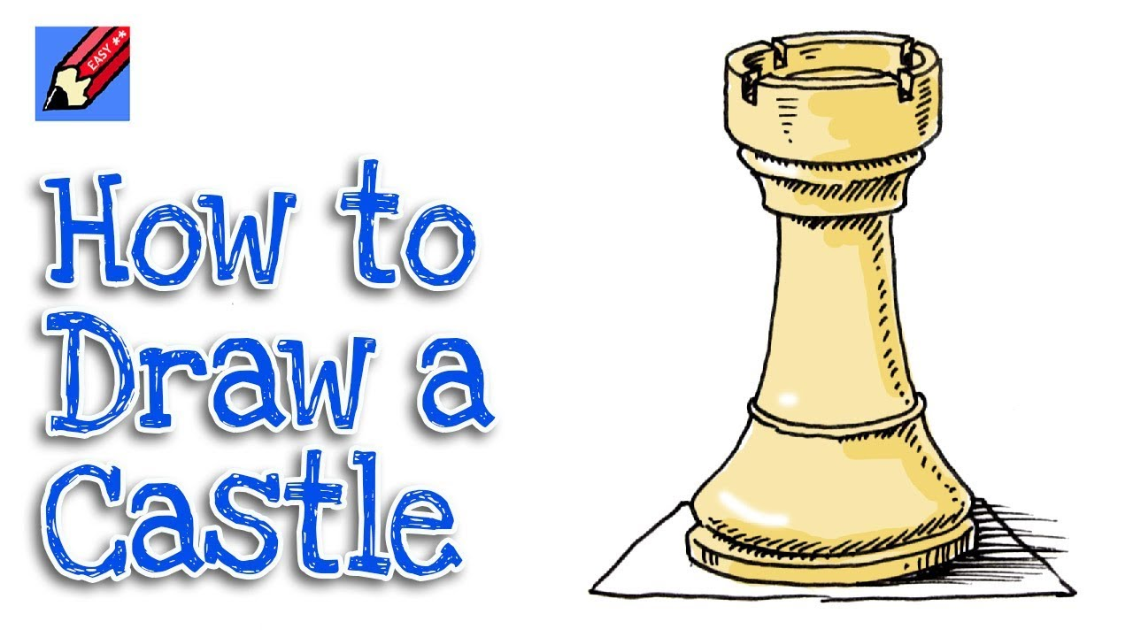 How to Draw a Chess Castle Real Easy - YouTube