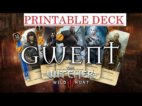 image about Printable Gwent Cards named Print GWENT Playing cards pdf- ALL 4 FACTIONS DECK - YouTube