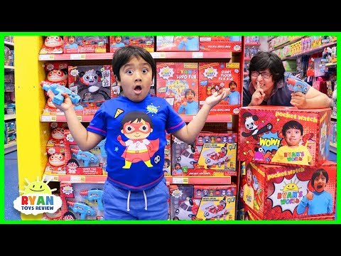 Daddy Hides Ryan's Toys All Around Smyths Toys Store!!!!