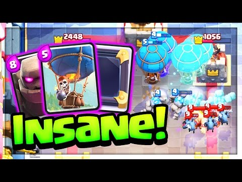 FOUR Balloons FOUR Golems at ONCE? UNSTOPPABLE! Clash Royale 'Strategy'