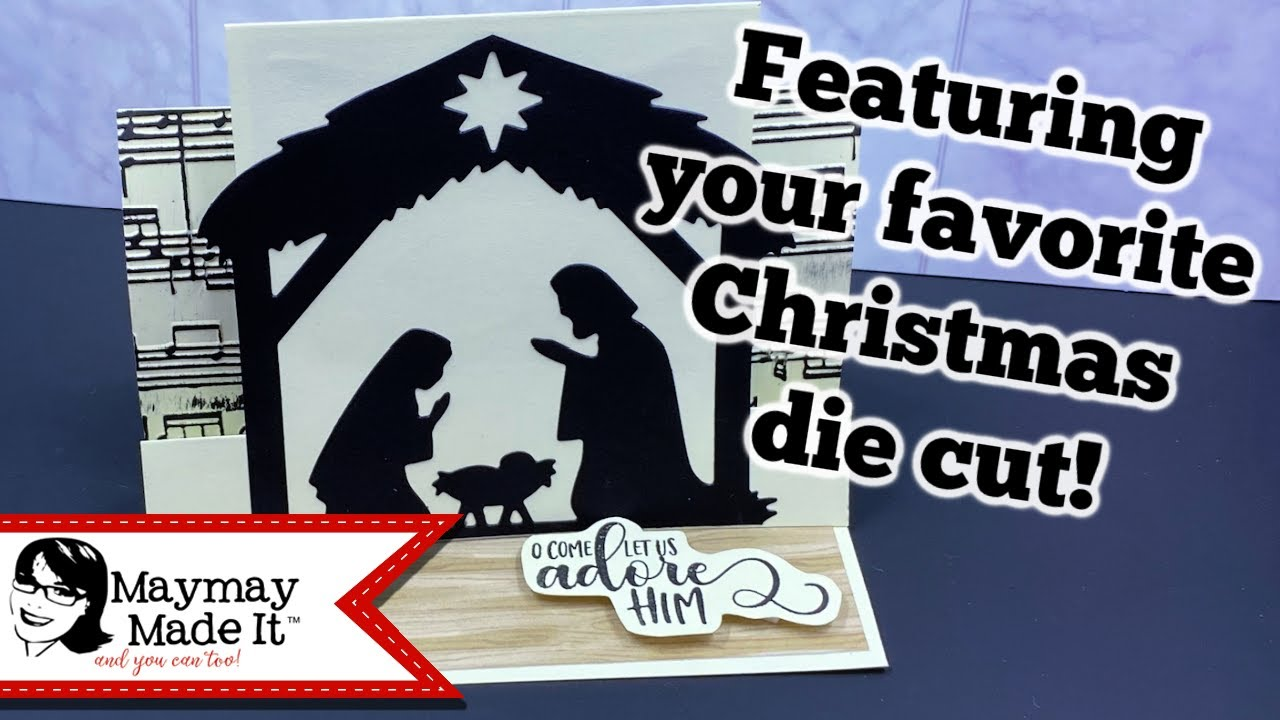 Christmas In July Nativity Easel Pop Up Card