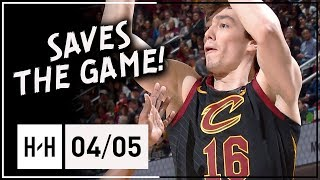 Cedi Osman SAVES the GAME, Full Highlights Cavs vs Wizards (2018.04.05) - 8 Points