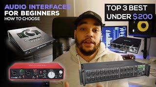 Top 3 Best Audio Interfaces of 2018 | Under $200
