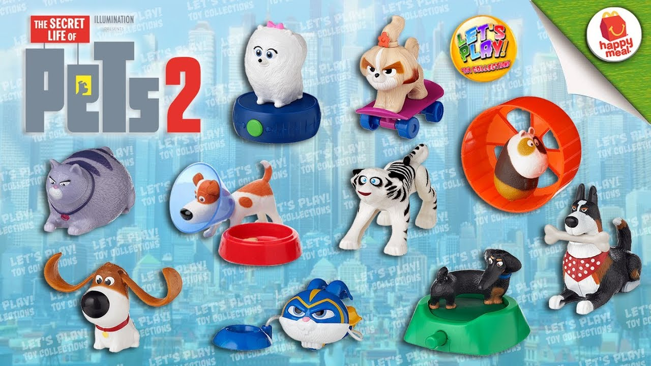 2019 Secret Life Of Pets 2 Mcdonald S Happy Meal Complete