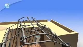 Навесы из поликарбоната. Обзор установки сотового поликарбоната.
