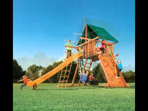 wooden swing set call 1 901 888 3523 happy backyards youtube
