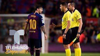 Un Messi enfadado le negó el saludo al árbitro | La Liga | Telemundo Deportes
