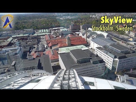 SkyView observation gondolas on Ericsson Globe in Stockholm, Sweden