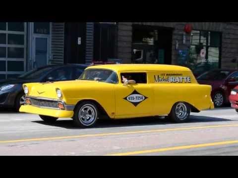 1956 CHEVY SEDAN DELIVERY CROSSES OLD VW VAN