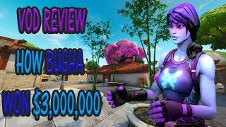[Fortnite World Cup VOD Review] This is how SEN Bugha won $3,000,000 (In Depth Analysis)