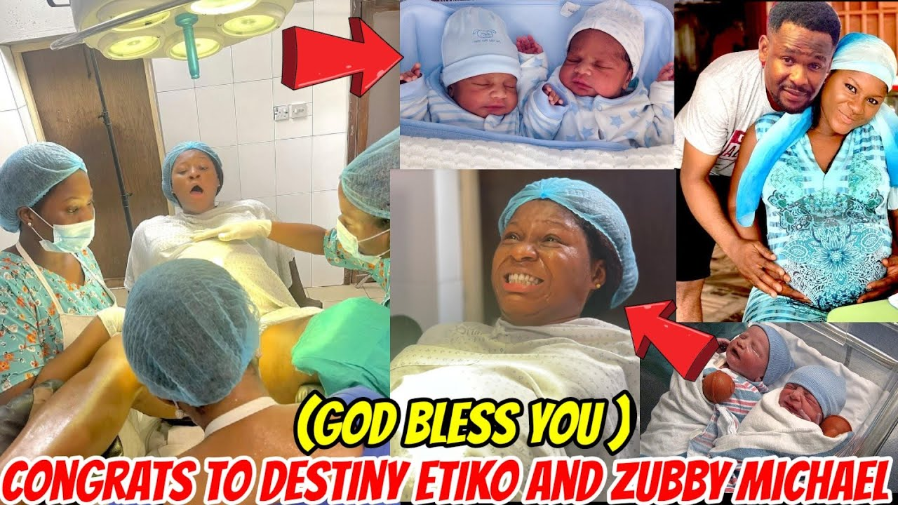 Download Congrats to Destiny Etiko and Zubby Michael as she puts to Birth a set of twins 🎊