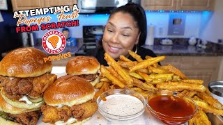 MAKING MY POPEYE ORDER FROM SCRATCH  RECIPE INCLUDED + MUKBANG