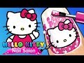 Hello Kitty Nail Care Games - Little Girls Nail Salon Paint Decorate Nails App For Kids