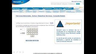 Banco mercantil: Como utilizar la tarjeta de coordenadas por mercantil en linea.