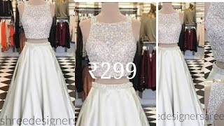 Crop top with skirt under 300|designer gown|bridal gown review|online shopping review
