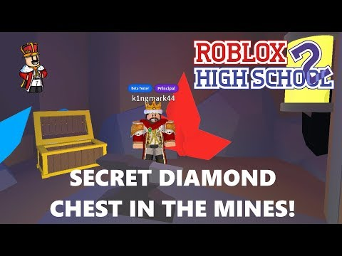 SECRET GEM CHEST IN THE MINES - Roblox Highschool 2