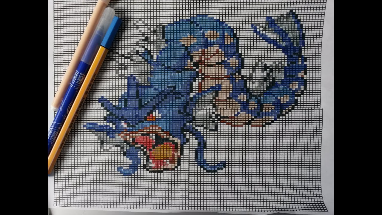 Comment Dessiner Leviator Gyarados How To Draw Pixel Art Dessin Lets Draw