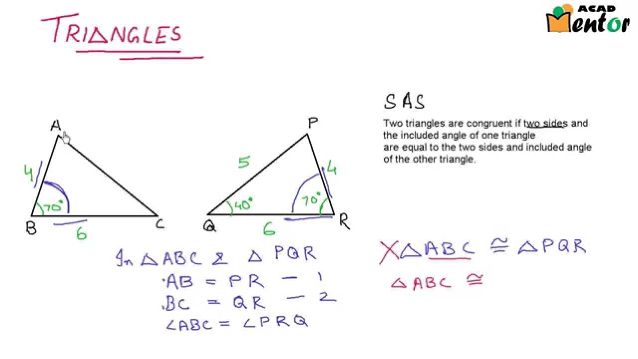 CONGRUENCE OF TRIANGLES PDF