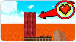 HOW TO SURVIVE IN LAVA WORLD WITH 1000 HEARTS IN MINECRAFT?