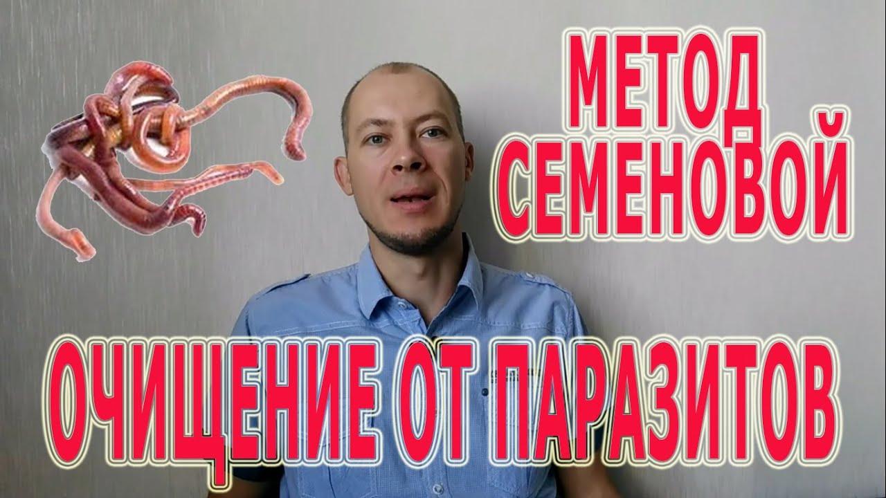 методика очищения от паразитов н а семеновой
