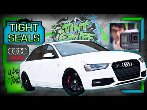 🔴 Audi Window Tint | How to Tint Car Windows | Hand Cut and Install A4 Window Tint